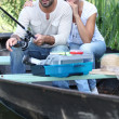 Stock Photo: Married couple fishing