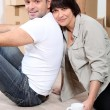 Couple moving house — Stock Photo #7801891