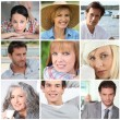 Stock Photo: Front view portraits