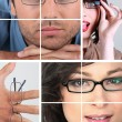 Stock Photo: Collage of wearing glasses