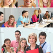 Stock Photo: Young adults in professional training