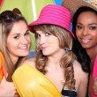 Three girlfriends ready for the beach — Stock Photo #7802333