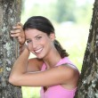 Young smiling womposing in park — Stock Photo #7802365