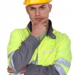 Confused builder — Stock Photo #7803623