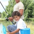 Father and son fishing — Stock Photo #7804955