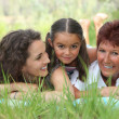 Portrait of 3 generations — Stock Photo