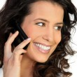 Woman at phone — Stock Photo