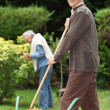 Elderly couple in their garden — Stock Photo #7807968