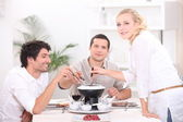 Friends at table — Stock Photo