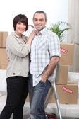 Couple of fortysomethings — Stock Photo
