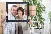 Couple moving in new flat — Stock Photo