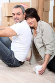 Couple moving house — Foto Stock