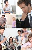 Tieners en volwassenen — Stockfoto