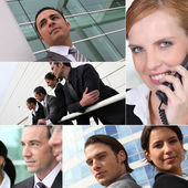 Confident businesspeople outdoors — Stock Photo