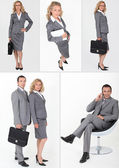 A collage of business professionals — Stock Photo