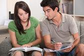 Teenagers revising — Stock Photo