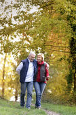 Husband and wife in park — Stock Photo