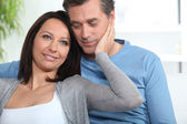 Portrait of an affectionate couple — Stock Photo