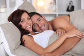 Couple in bed — Stock Photo