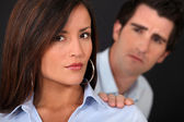 Couple having a quarrel — Stock Photo