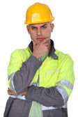 Confused builder — Stock Photo