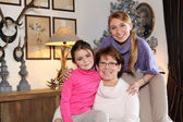 Girl with her mother and grandmother — Stock Photo