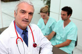 Three medical professionals — Stock Photo