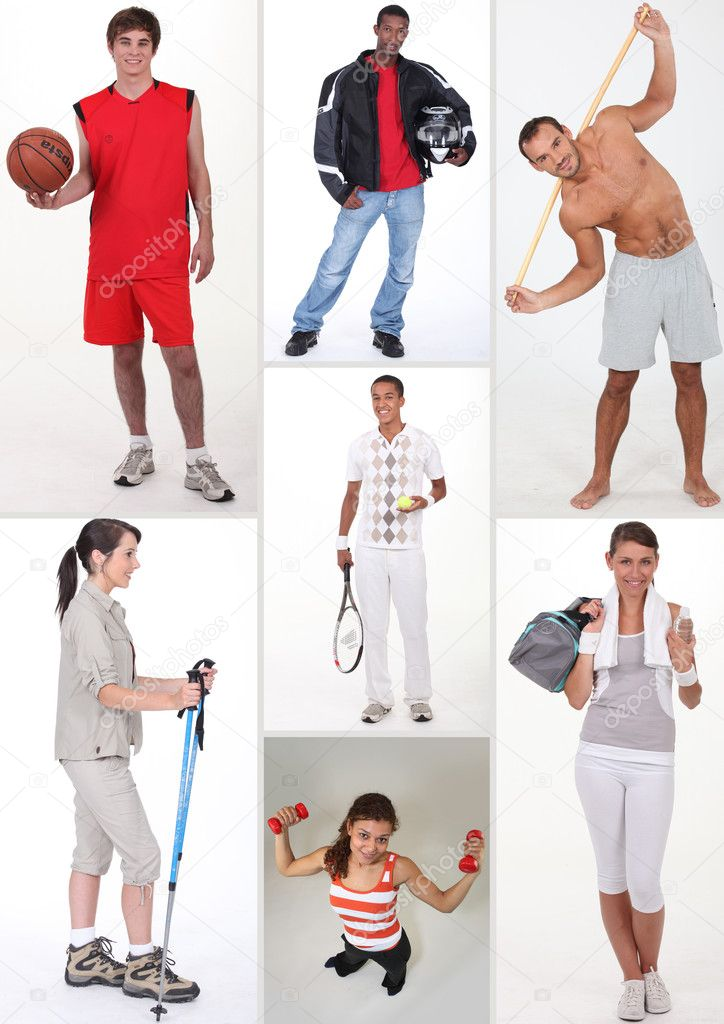 Collage of athletic — Stock Photo #7802212