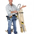 Carpenter stood in studio — Stock Photo #7810723