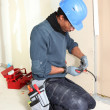 Stock Photo: Electrician working