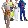 Manual workers stood together — Stockfoto