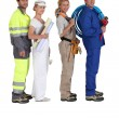 Stock Photo: Different building trades