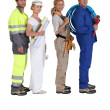Different building trades — Stock Photo