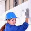 Portrait of a young worker — Stock Photo