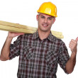 Happy carpenter — Stock Photo #7811477