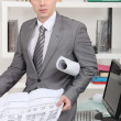 Male architect in office — Stock Photo