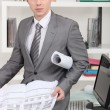 Stock Photo: Male architect in office