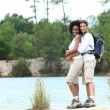 Couple on a mountain hike — Stock Photo #7812170
