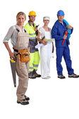 Handarbeiders stond samen — Stockfoto