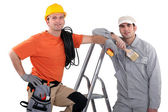Electrician and painter — Stock Photo
