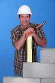 Portrait of a smiling tradesman — Stock Photo