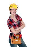 Female carpenter — Stock Photo