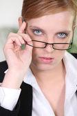 Serious businesswoman — Stock Photo