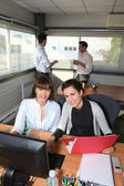 Co-workers in office — Stock Photo