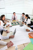 Meeting of architects — Stock Photo