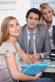 First job interview — Stock Photo