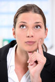 Portrait of a young brunette businesswoman — Stock Photo
