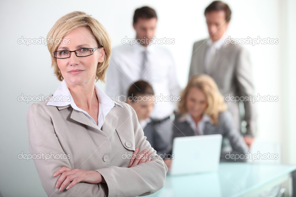 Female executive wearing glasses — Stock Photo #7811750