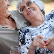 Elderly drinking wine. — Stock Photo #7892147