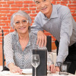 Elderly couple in restaurant — Stock Photo #7892305